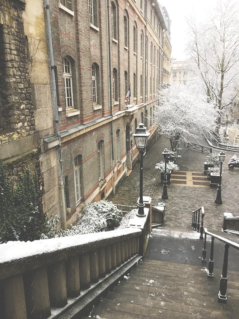 escaliers de la rue Girardon, Montmartre, Paris