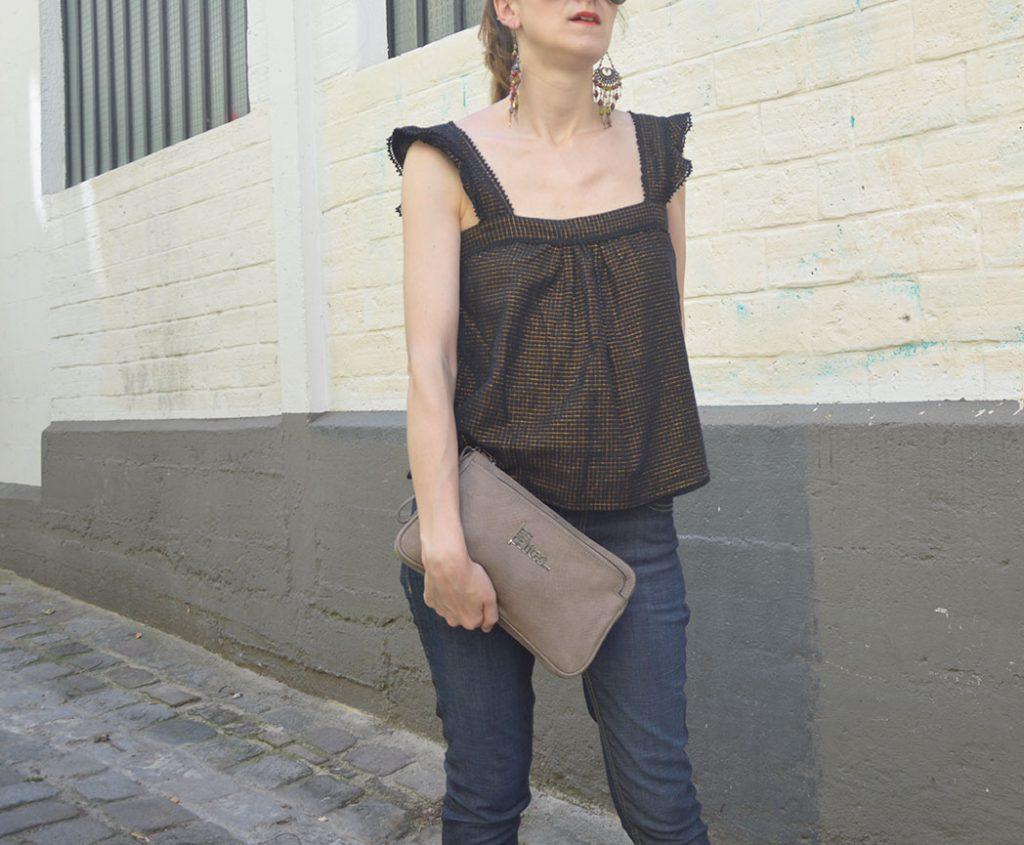 blouse d'été Sézane, pochette Les Petites