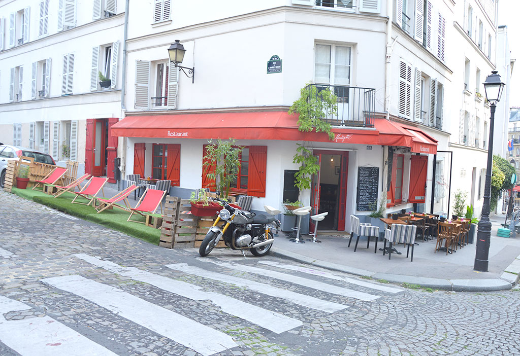 terrasses de restaurants à Montmartre, La Mandigotte
