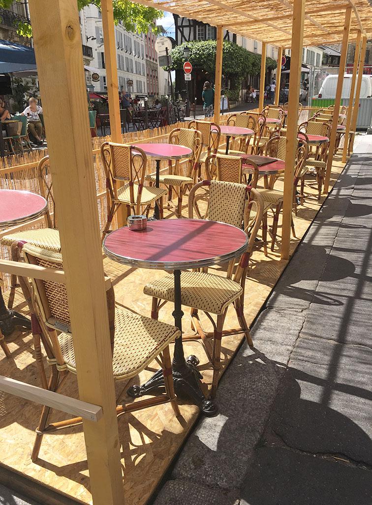 terrasse de restaurants à Montmartre, Bibiche