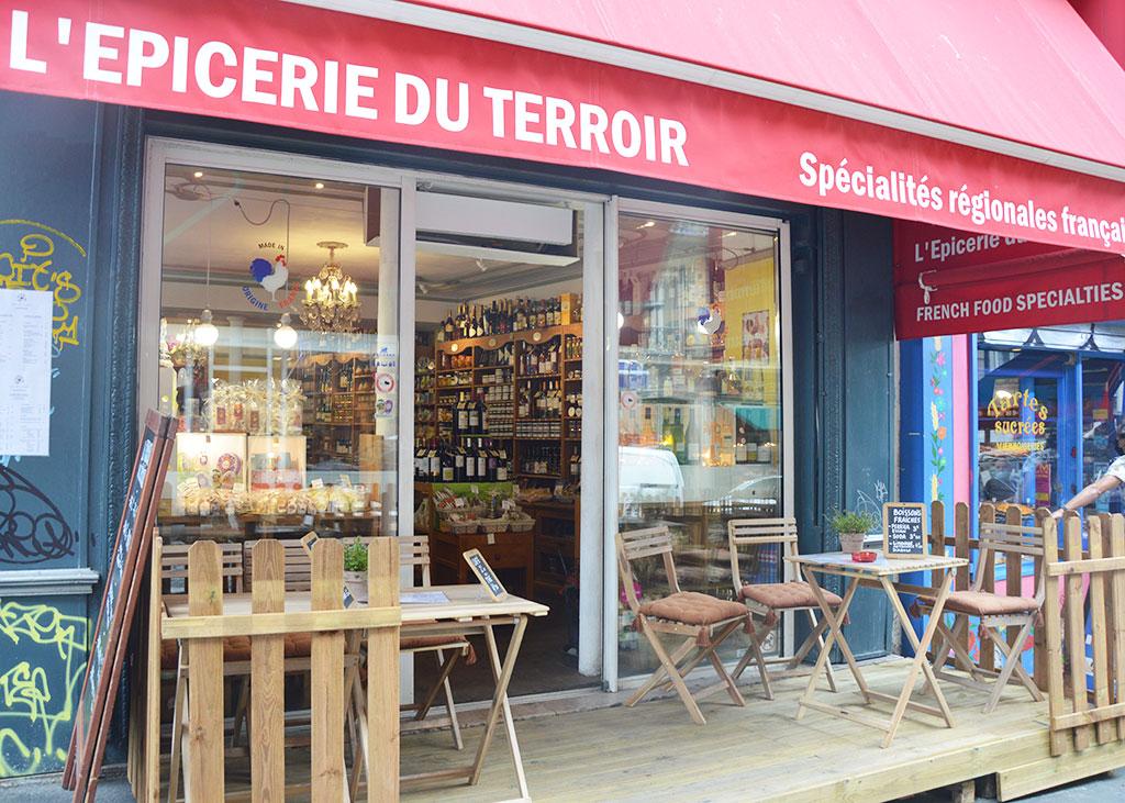 terrasse de restaurants à Montmartre, L'épicerie du terroir