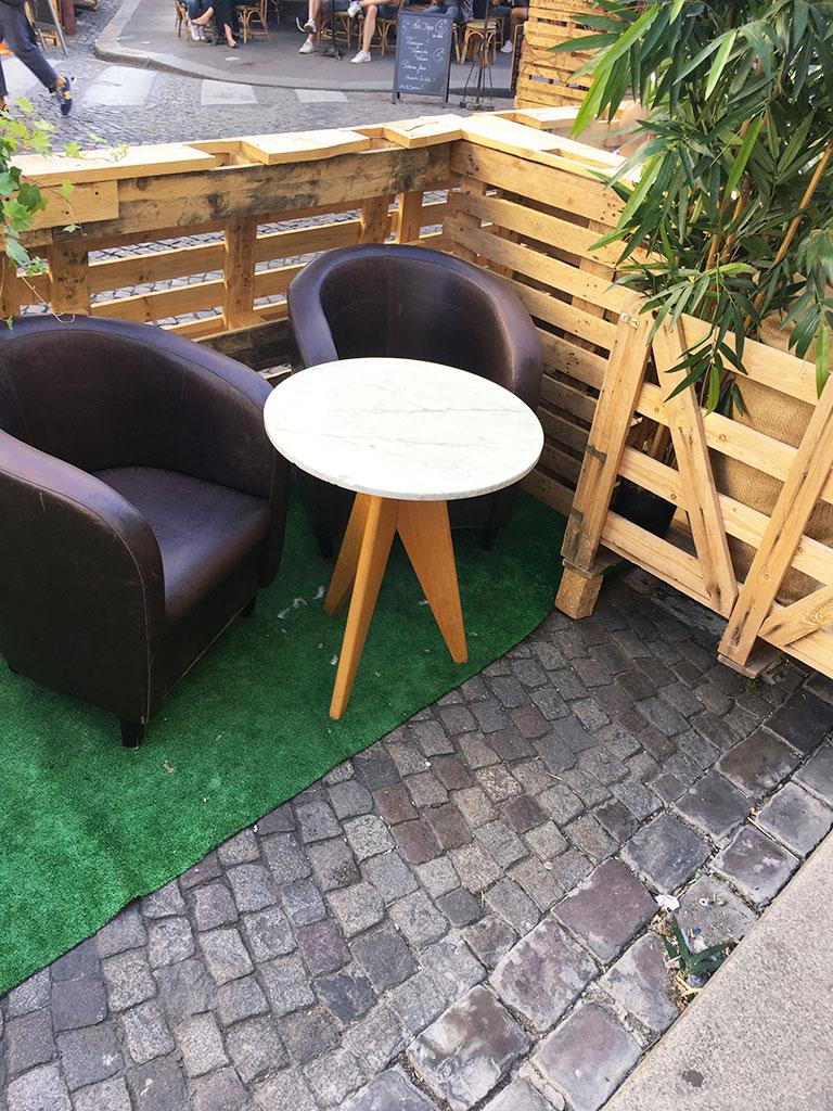 terrasse de restaurants à Montmartre, Le Grain