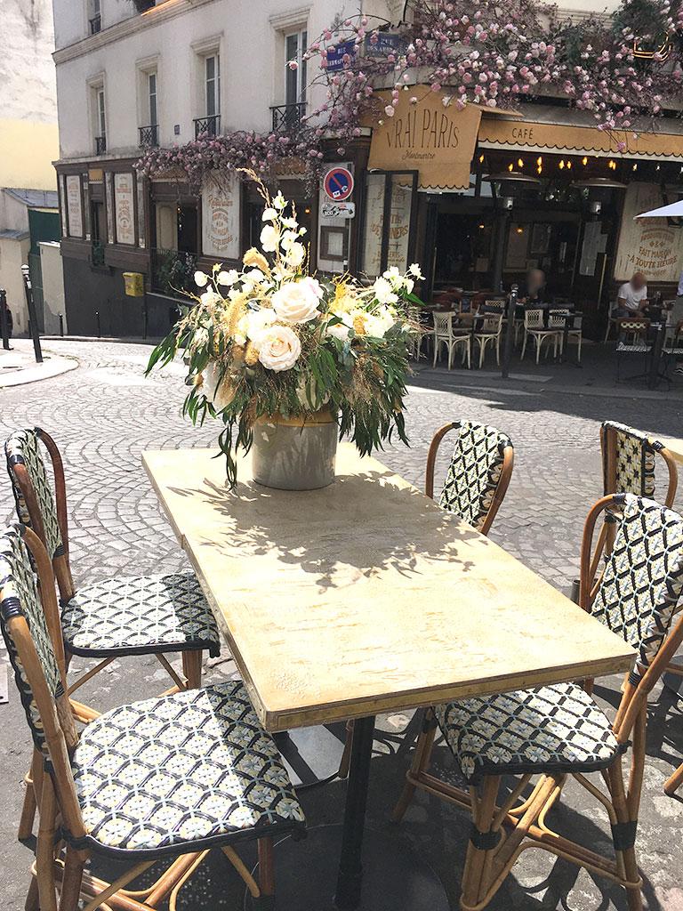 terrasse de restaurants à Montmartre, Vrai Paris