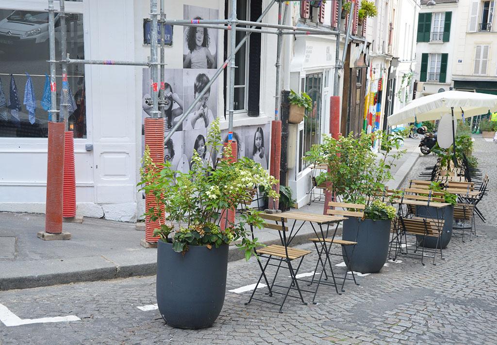 terrasse de restaurants à Montmartre, Che Tango