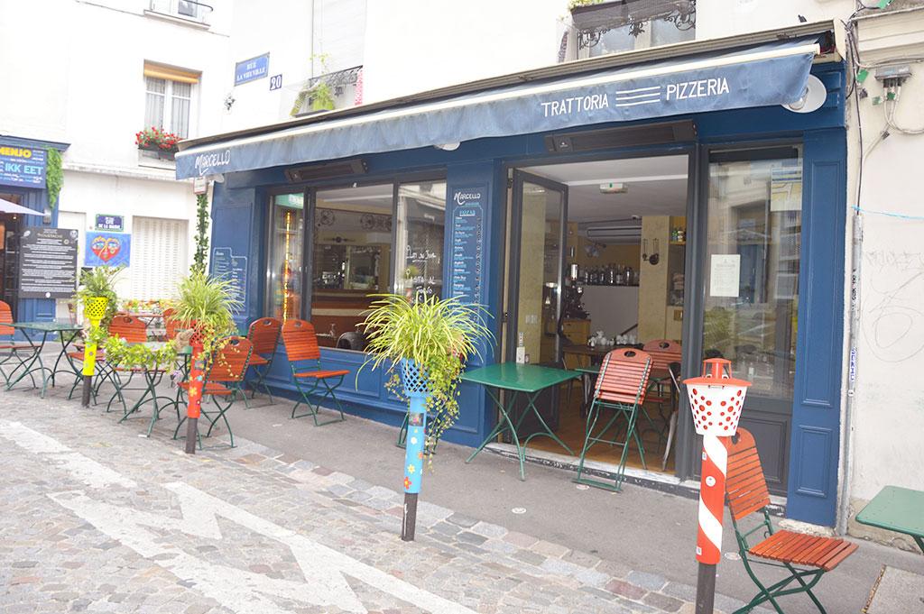 terrasse de restaurants à Montmartre, Marcello