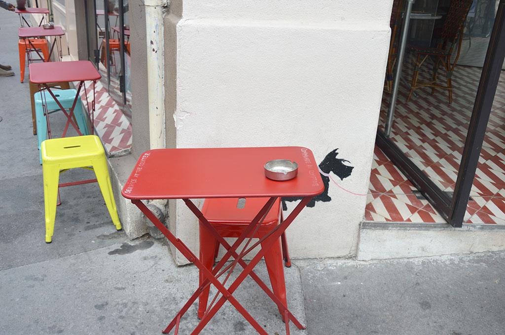 terrasse de restaurants à Montmartre, Café Tabac