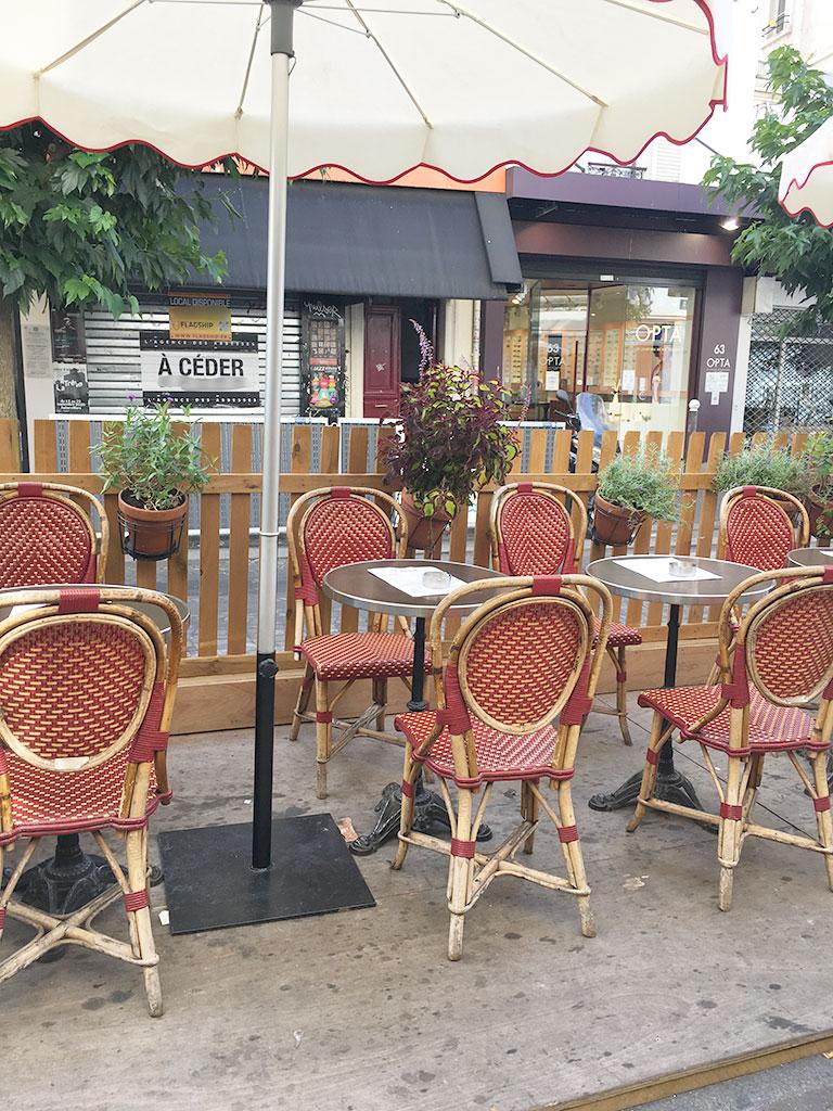 terrasse de restaurants à Montmartre, Le Nazir