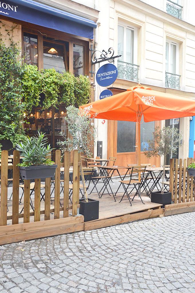 le restaurant Tentazioni, terrasses de restaurants à Montmartre