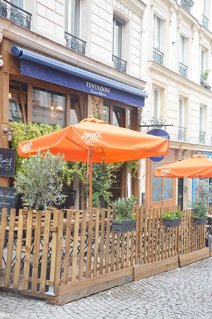Tentazioni, terrasses de restaurants à Montmartre